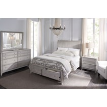 hazel white king storage bed