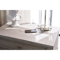 hazel white nightstand