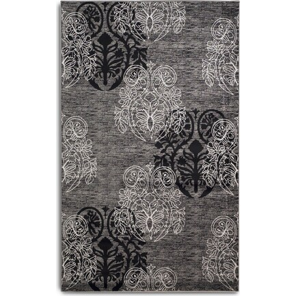 Hermes 5 X 8 Area Rug - Gray/Black
