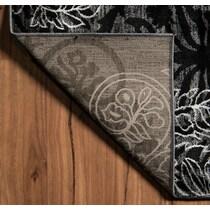 hermes gray black area rug ' x '