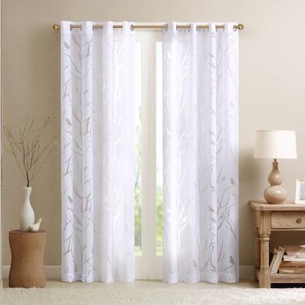 "Hilde 63"" Window Curtain - White"