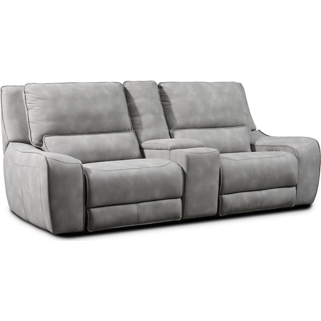 Living Room Furniture - Holden Dual-Power Reclining Loveseat - Stone