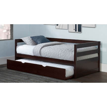 Hudson Twin Trundle Daybed - Chocolate