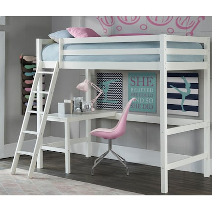 Hudson Twin Loft Bed - White