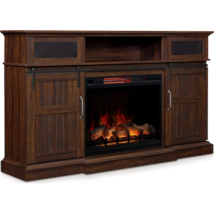Hunter Fireplace TV Stand - Brown