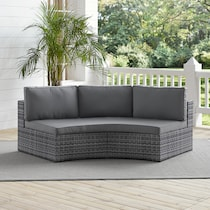 huntington gray outdoor sofa