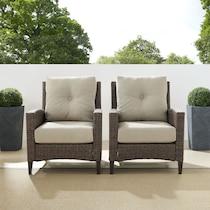 huron light brown outdoor chair set