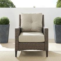 huron light brown outdoor chair