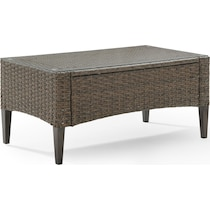 huron light brown outdoor coffee table