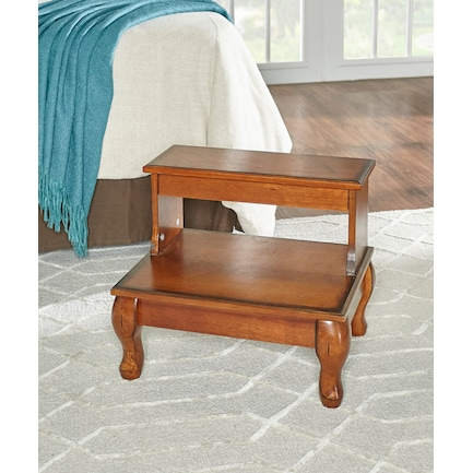 Ida Antique Bed Step with Drawer
