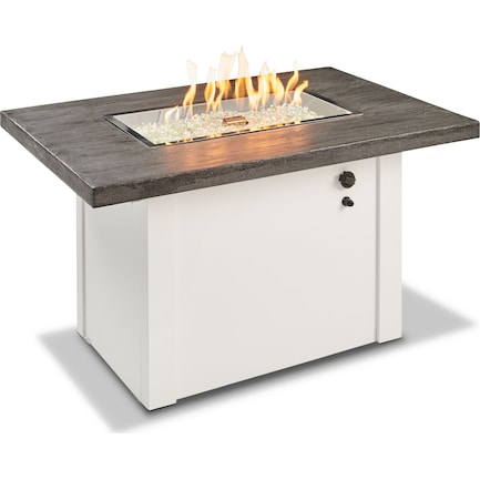 Indio Gas Fire Table - White Stone
