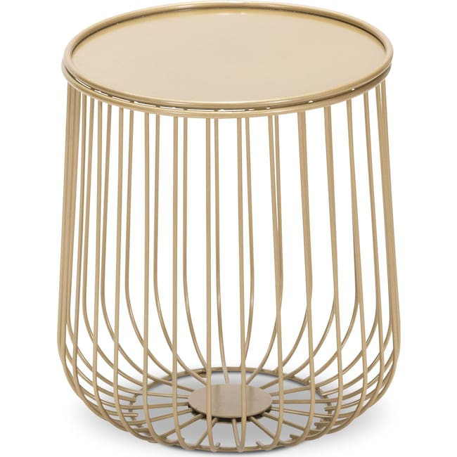 Accent and Occasional Furniture - Indoor/Outdoor End Table - Gold