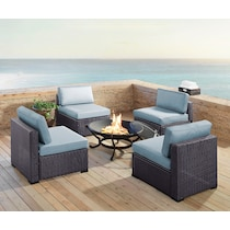 isla blue outdoor chair set