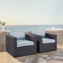 isla blue outdoor chair