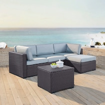 isla blue outdoor sectional set