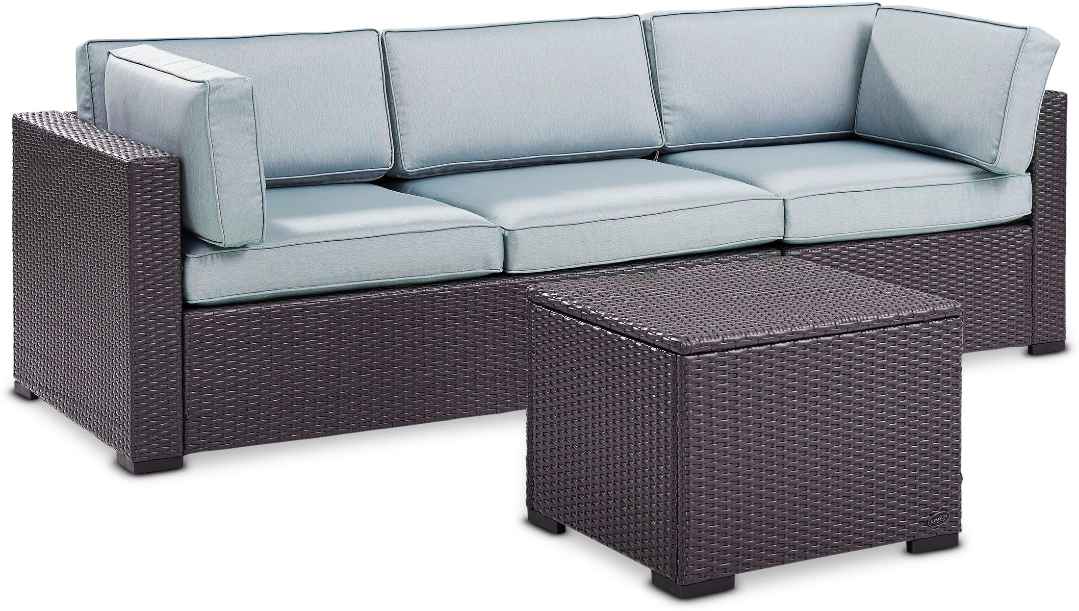 Outdoor Furniture - Isla 2-Piece Outdoor Sofa and Coffee Table Set