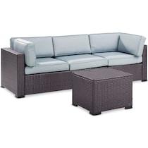 isla blue outdoor sofa set