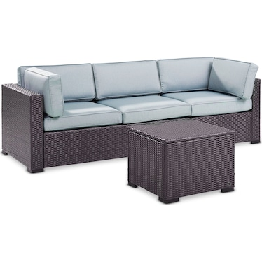 Isla 2-Piece Outdoor Sofa and Coffee Table Set