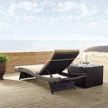 isla dark brown outdoor chaise