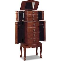 ivy dark brown jewelry armoire