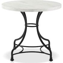 izzy black dining table