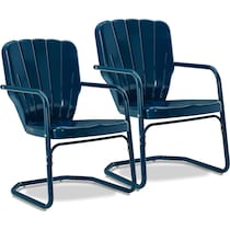 jack blue outdoor chair