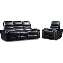 jackson black  pc manual reclining living room