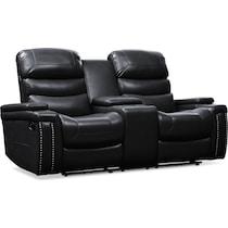 jackson black manual reclining loveseat