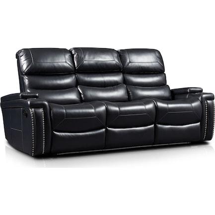 Jackson Manual Reclining Sofa - Black
