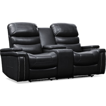 Jackson Triple-Power Reclining Loveseat - Black