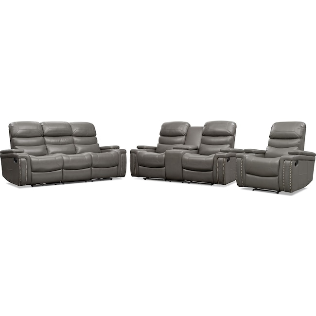 Living Room Furniture - Jackson Manual Reclining Sofa, Loveseat, and Recliner