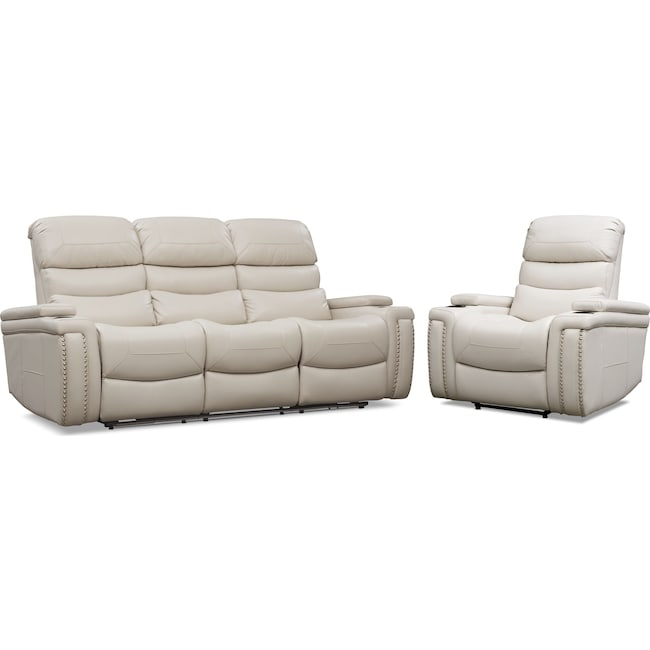 Living Room Furniture - Jackson Triple-Power Reclining Sofa and Recliner Set