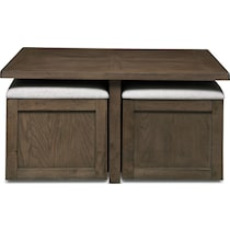 jacob dark brown coffee table