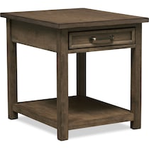 jacob dark brown end table