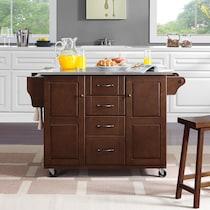 jake dark brown kitchen cart