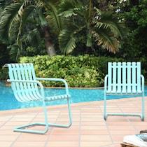 janie blue outdoor chair set