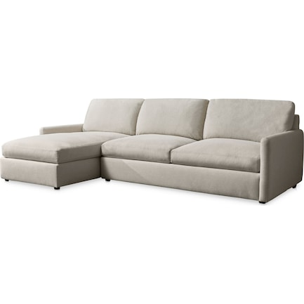 Jasper Hybrid Comfort 2-Piece Sectional with Left-Facing Chaise - Beige