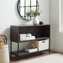 jerry dark brown storage console