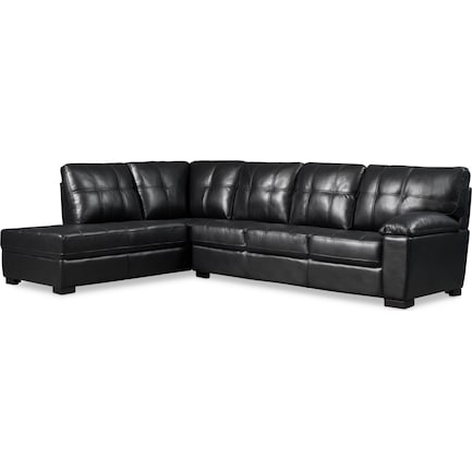 Jones 2-Piece Sectional with Left-Facing Chaise - Black