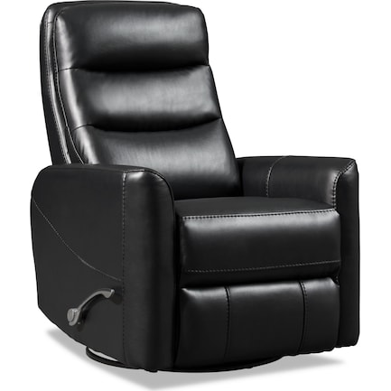 Jones Manual Swivel Recliner - Black