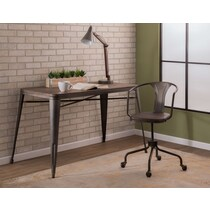 jordan antique brown office chair
