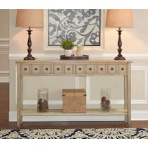 josie white console table