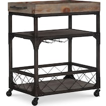 judge dark brown bar cart