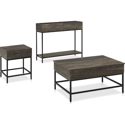Kaplan 3-Piece Table Set with Coffee Table, Console Table and End Table