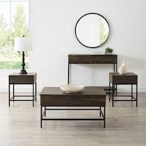 kaplan dark brown  pack tables