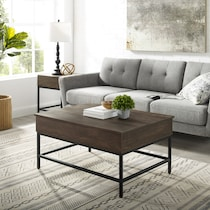 kaplan dark brown coffee table