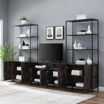 kaplan dark brown console table