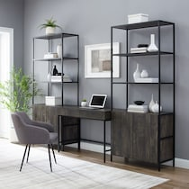 kaplan dark brown desk