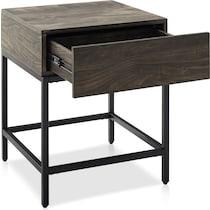 kaplan dark brown end table