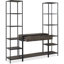 kaplan dark brown etagere